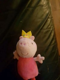 Peppa Pig with crown plush toy