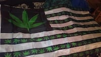 black, white and green cannabis print flag Clarksville, 37042