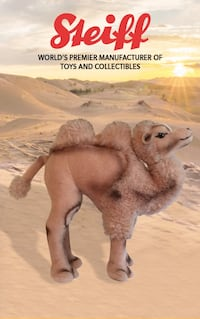"""Vintage early 70's Steiff """"Cosy the Camel"""" Budd Lake, 07828"""