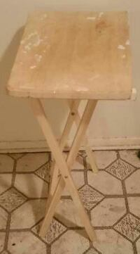 "29""Hx19""W Light Brown White Wood Household Table"