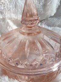 Indiana Princess Depression Glass Pink Candy Dish with Lid.  TORONTO