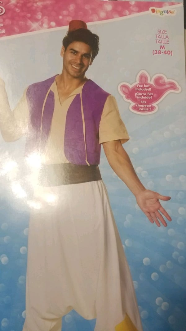 Disney Aladdin mens medium costume  1