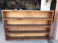 "Beautiful Solid Wood 4 Shelf Book Case, 6'3""x 4'3""x 11"""