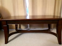 brown wooden framed glass top coffee table Ottawa