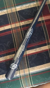 Mini Padres baseball bat from Louisville Slugger factory tour Kaysville, 84037