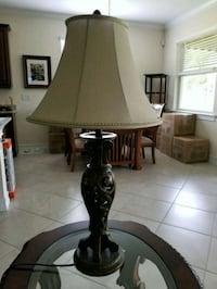 brown and white table lamp North Fort Myers, 33917
