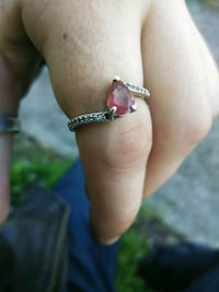 Sterling silver ring with pink topaz  Redding, 96003