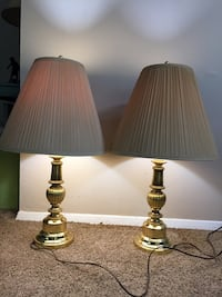 two brown-and-white table lamps Falls Church, 22042