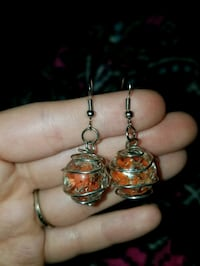 Cracked marble earrings 733 mi