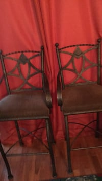 two black metal framed brown leather padded chairs Washington, 20024