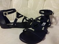Black w/gold trim Steve Madden Flat Sandals Surfside Beach, 29575