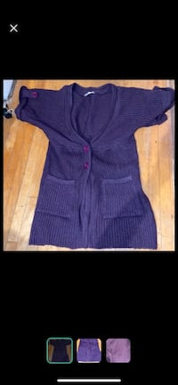 Purple long cardigan szS or medium Toronto, M4C 1N3