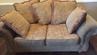 Two Light Brown fabric loveseats Mentor, 44060