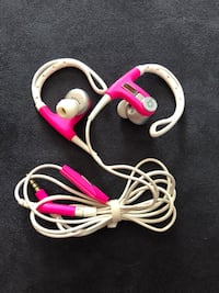 Beats Red and white corded headphones