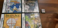 four assorted-title Nintendo DS cases Longueuil, J3Y 8W9