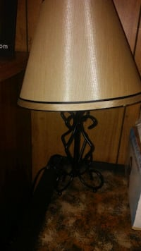 brown and white table lamp Newton, 28658