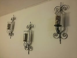 wall decoration vases with solid metal mount must go last day