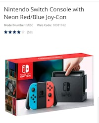 black and red Nintendo Switch with box Ajax, L1T 2R2
