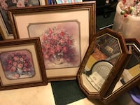 Two Framed Roses Prints & Two Mirrors Stafford, 22554