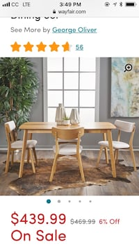 Wayfair 'Henry 5 Piece Wood Dining Set' Washington, 20009