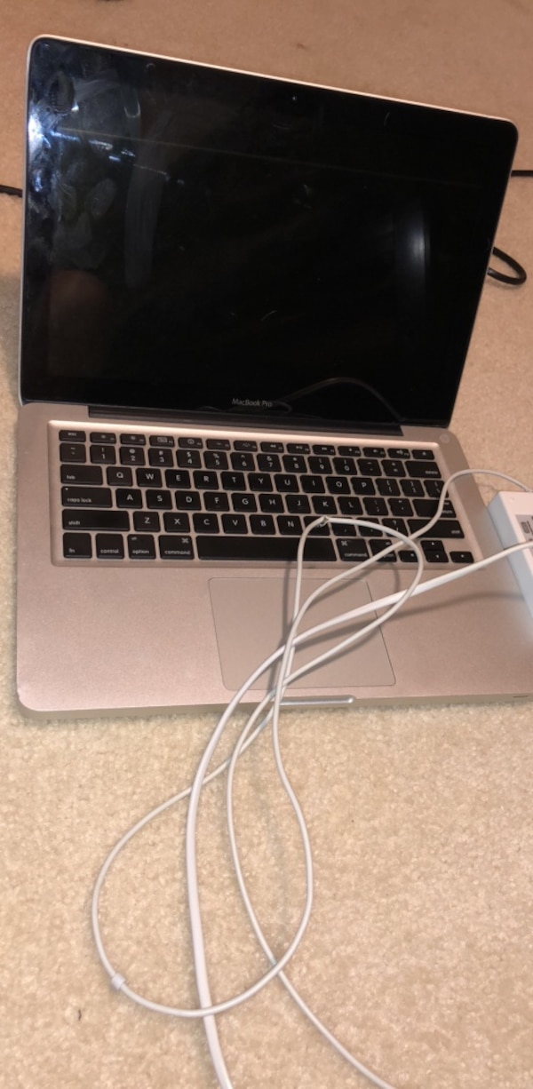 MacBook Pro and charger