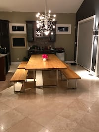 Huge dining table + benches Ottawa