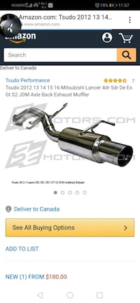 Lancer used exhaust Tsudo bolt on