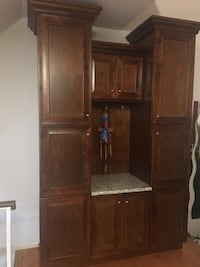 brown wooden cabinet with shelf Chantilly, 20151