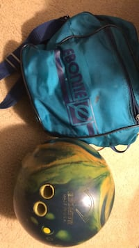 Ebonite Bowling ball and carry bag. Stamford, 06902