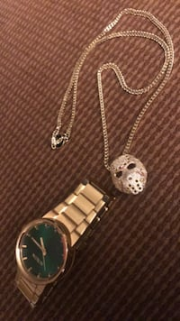 70 dollars for both the nixon watch & hockey chain and pendent Fresno