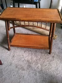 """Bamboo and wicker stand 36""""L 30H 17D Alexandria, 22306"""