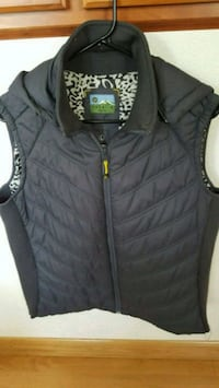 Grey charcoal women's vest large PD $149 Portland, 97220