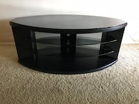 Black Glass and wood tv stand Garden Grove, 92845