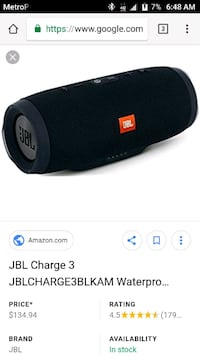 JBL Charge 3  Augusta, 30909