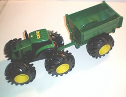 John Deere Monster Treads Lights and Sounds Tractor and Wagon