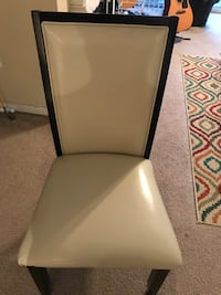 White and black leather padded chair Cary, 27519