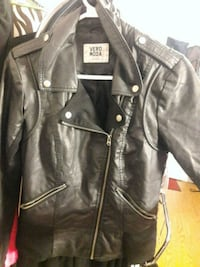 black leather zip-up jacket Kamloops, V2C 3Z6