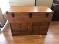 Engineer's 5 drawer wooden tool chest with tray Saint Petersburg, 33714
