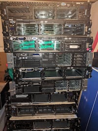 black computer tower lot