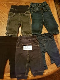 3-6 months Jean's and jean jeggings $2 each Barrie, L4M 6M8