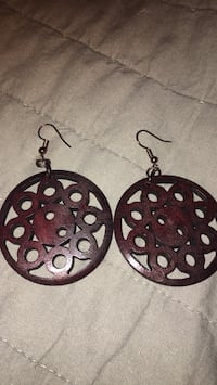 Jewelry-Large Wooden carved earrings
