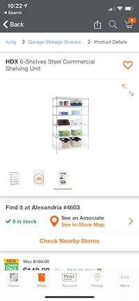 Large wire shelving unit 48x24x72in Alexandria, 22312