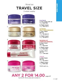 Travel sizes anew facial day and night creams Edmonton, T6L 6M7