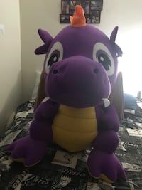 Huge kids stuffed purple dragon 537 km