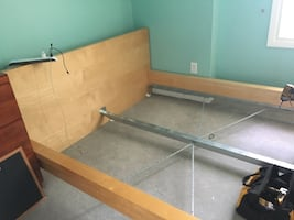 IKEA bed frame with box spring
