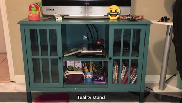 Used Teal Tv Stand For Sale In Lafayette Letgo
