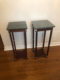 2 marble top side table