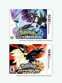 Pokemon Ultra Sun and Pokemon Ultra Moon (each)  Toronto