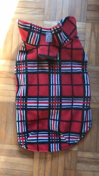 Small-medium flannel dog jacket Keswick, L4P 3P2