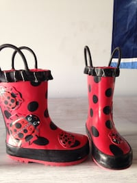 black and red Ladybug theme rain boots Guelph, N1L 0B1